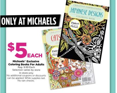 Michael\'s: Adult coloring Books only $5 (reg. $9.99) - Dapper Deals
