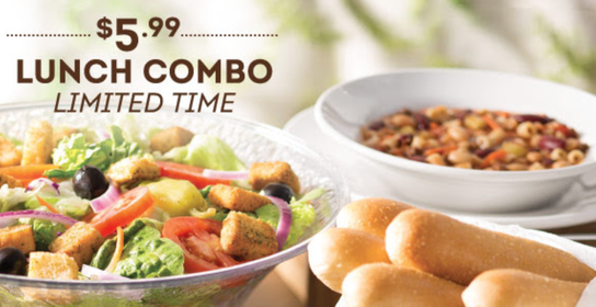 Olive Garden 599 for Unlimited Soup Salad Breadsticks