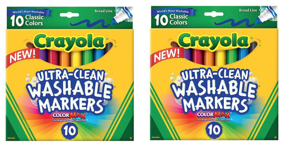HURRY Over Here To Print Out A New 1 2 Crayola Ultra Clean Washable Markers Manufacturer Coupon And It Makes For HOT Deal At Staples Where Is On