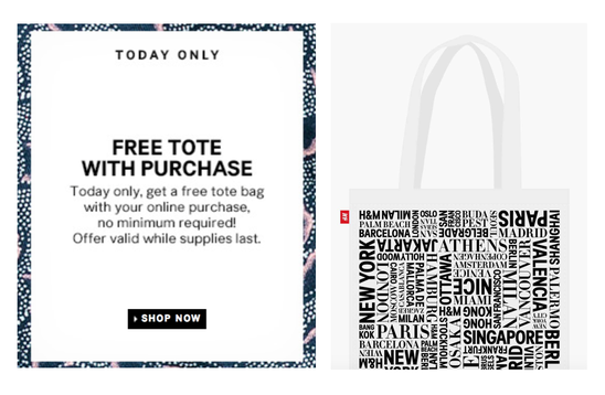 H&M: FREE Tote Bag with ANY Online Purchase (Today Only!) - Dapper ...