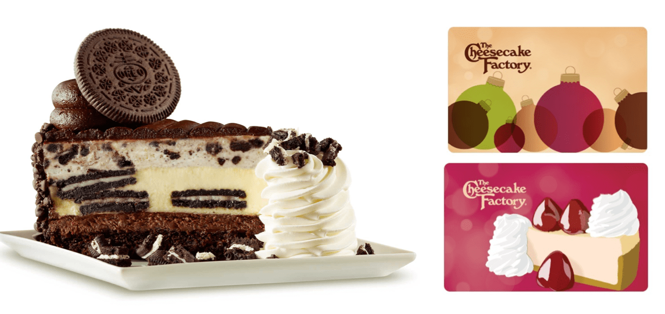 The Cheesecake Factory: 2 FREE Cheesecake Slices with $25 eGift Card ...