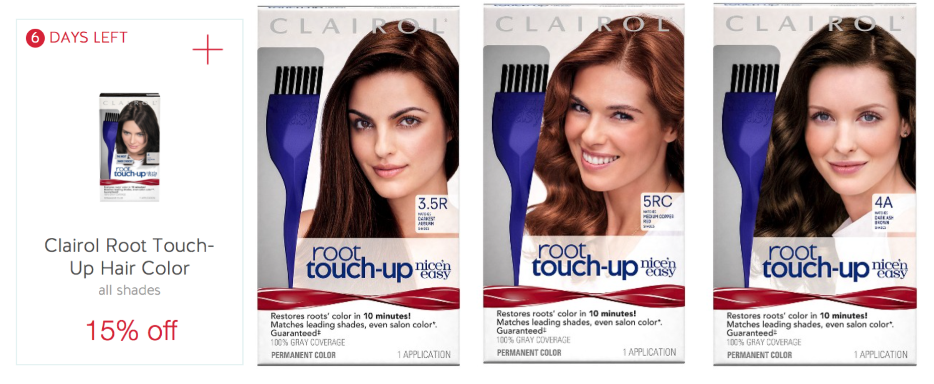 Target Clairol Root Touch Up Hair Color Only 182 Each After Gift