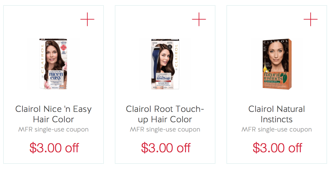 Hot New 31 Clairol Hair Color Printable Coupon Stackable Ibotta