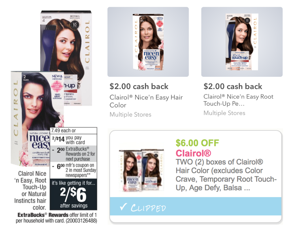 Hot Cvs Clairol Hair Color Only 050 Per Box After Ibotta Rebate