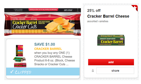 image relating to Cracker Barrel Coupons Printable identified as Incredibly hot* Fresh new $1/1 Cracker Barrel Cheese Materials Printable Coupon