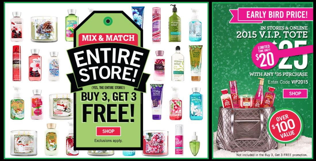 HOT* Bath & Body Works: Buy 3 Get 3 FREE (Almost Everything