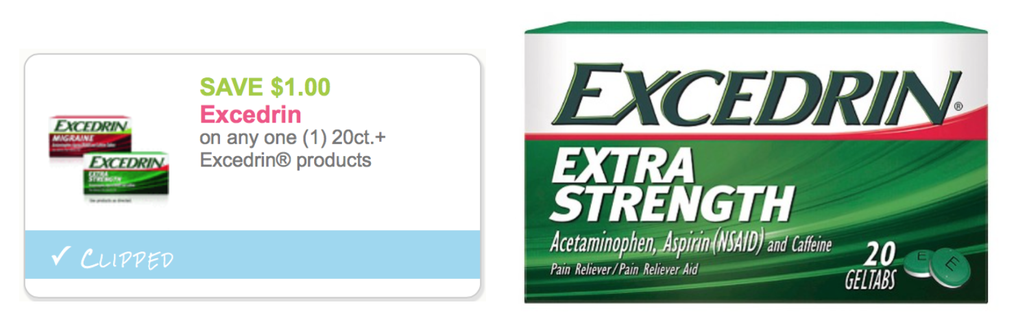 image relating to Printable Dollar Tree Coupons called 3 Refreshing Excedrin Content Printable Discount coupons \u003d Probably Cost-free