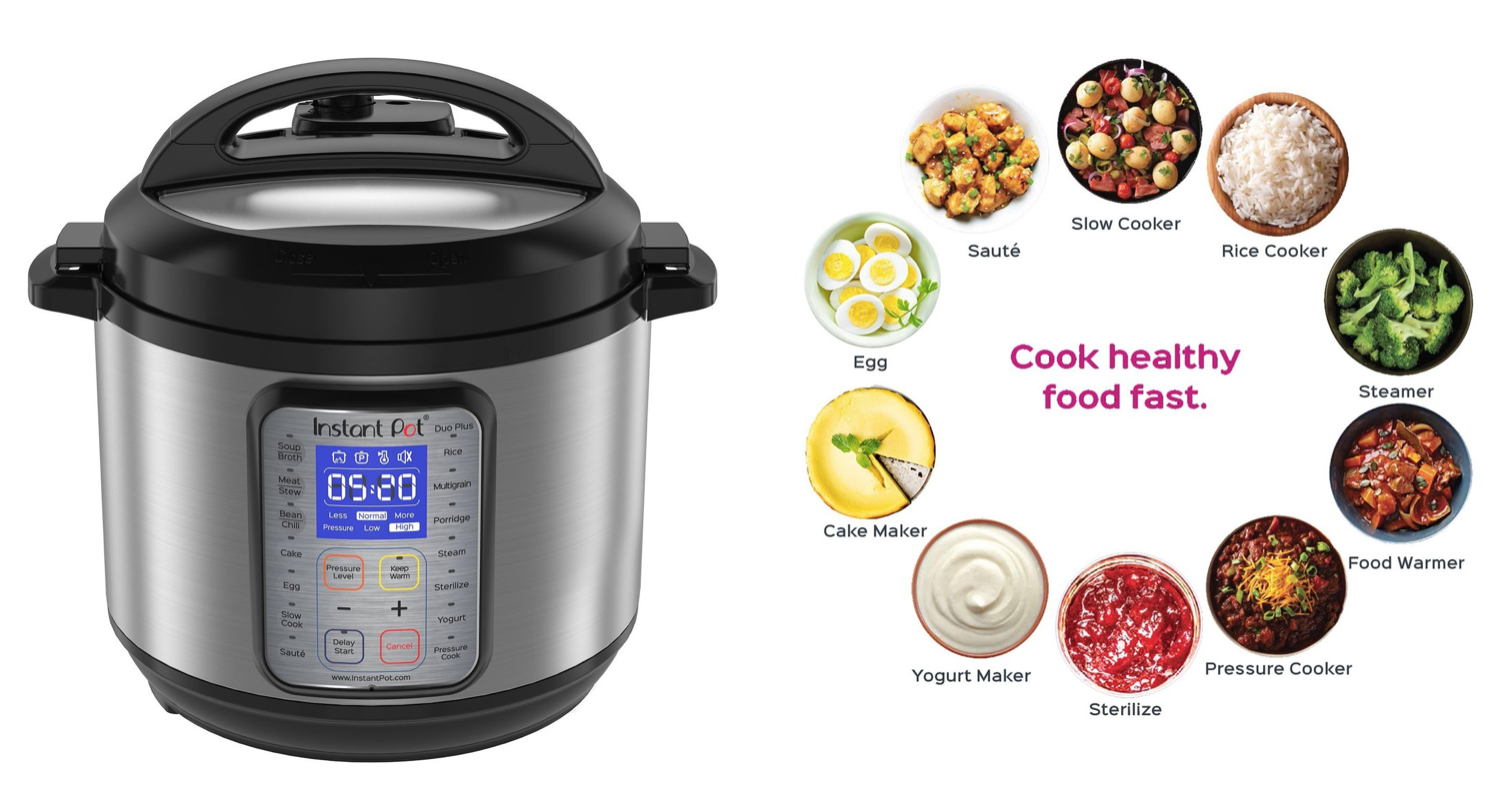 Hot Amazon Instant Pot Duo Plus 6 Quart 9 In 1 Programmable Pressure Cooker Only 55 99 Exclusively For Prime Members Dapper Deals